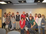With my professors and classmates in Fall 2011