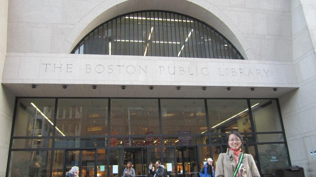Boston Public Library. Photo: Hanh Le