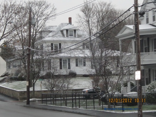 The houses across the street.