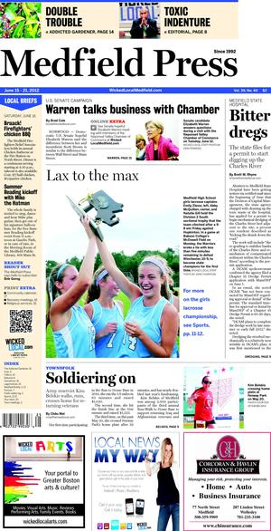 The story is run on the Medfield Press issued on June 20, 2012