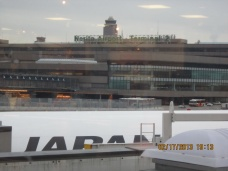 The Narita International Airport looks quite under the overcast sky this early morning.