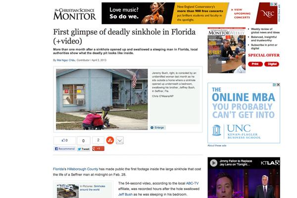 Sinkhole in Florida