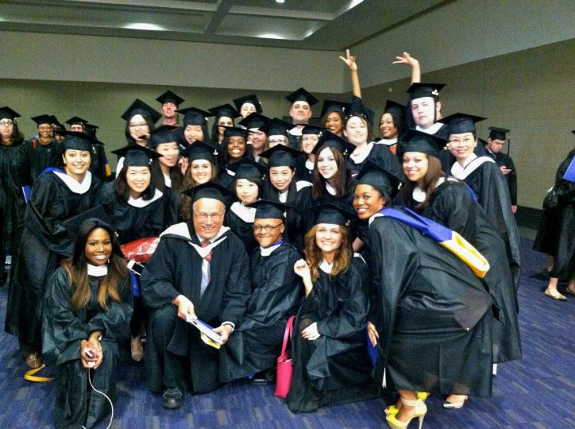 Professor Jerry and our class of graduate journalism 2011-2013. Photo: a fellow student of us.