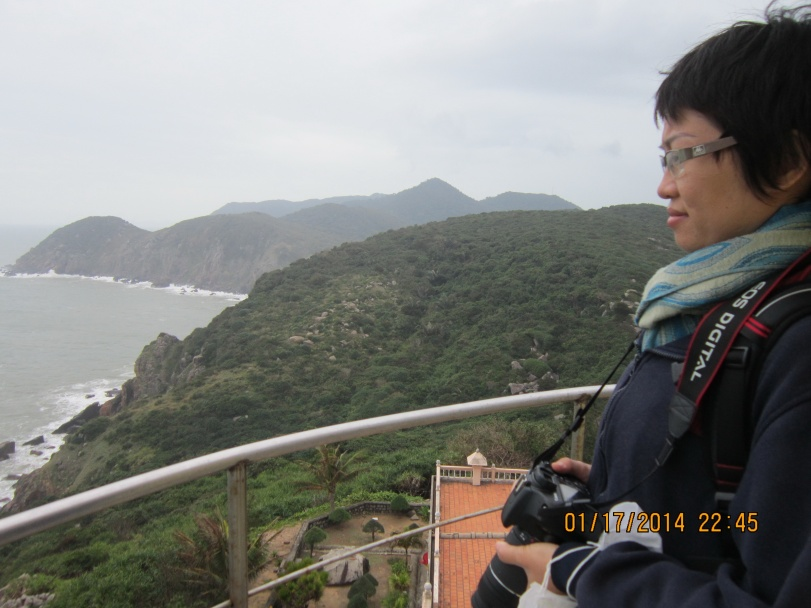 Looking the East Sea from Dai Lanh Lighthouse. Yay, I make it. Photo: Uncle Seven